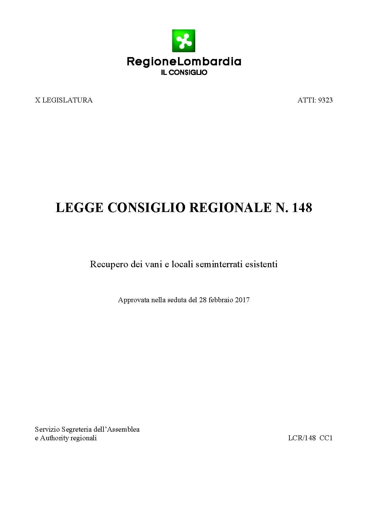 COMPRAVENDITA - Legge Regionale Lombardia sul recupero dei ...